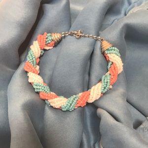 🎉 5/$25 Francesca's Braided Bead Bracelet
